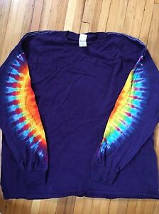 3xl Tie Dye Long Sleeve Shirt Only The Sleeves Are Tie Dyed New
