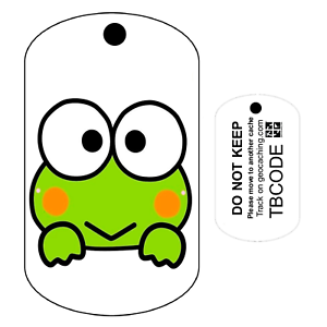 Travel Bug Pour Geocaching-traçable Tag-oléfines Freddy la Grenouille