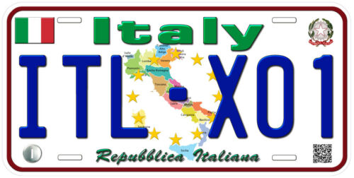 Italy Any Text Personalized Novelty Aluminum Car License Plate