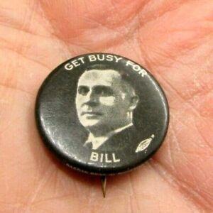 1932-Political-Pinback-Button-Get-Busy-For-Bill-Donovan-Governor-NY-Bastian-Wild
