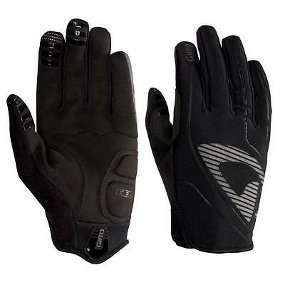 GIRO Blaze Gel Full Long Finger Winter Thermal Gloves 50'F/10'C Rating BLACK