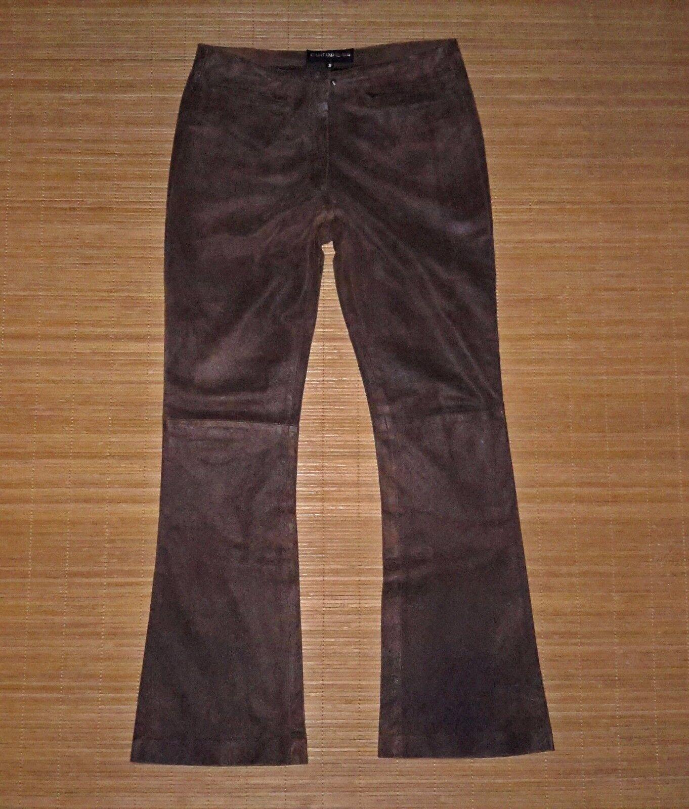 Pantalon CUIROPOLIS en cuir braun vieilli  Größe basse  Größe 40 fr TBE