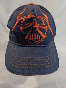 Star Wars Darth Vader Baseball Cap Hat Youth Navy Blue Orange  7dfe5e72d714