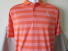 New SHADY CANYON GOLF CLUB Polo Shirt Size Small Nike Golf Orange Dri Fit Irvine