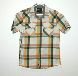 Oakley-Casual-Button-Up-Short-Sleeve-Shirt-Men-s-Size-Medium