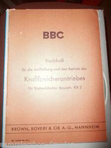 Schlussverkauf El2043 Bbc Vorschrift Für Kraftspeicherantriebes Für Stufenschalter Rb 2 1941 Antiquarische Bücher