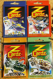 KIDS-PARTY-GIFTS-12-packs-of-5-ZCardz-mini-models-aircraft-amp-military-vehicles