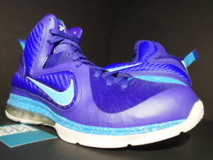 low priced 4e258 62a0c Image is loading NIKE-LEBRON-IX-9-SUMMIT-LAKE-HORNETS-PURPLE-