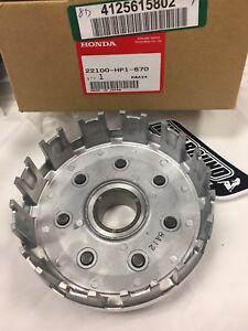 NEW-OEM-HONDA-TRX450r-450r-450er-clutch-basket-with-gear-2004-2014