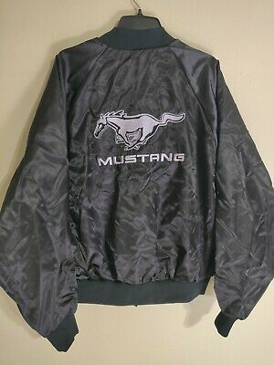 a20f6a57c Vintage Ford Mustang Nylon Satin Bomber Jacket USA Union Made ...