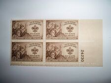 BSA, Plate Block of 1950 Boy Scout Stamps (Great Gift for Eagle Court of Honor)