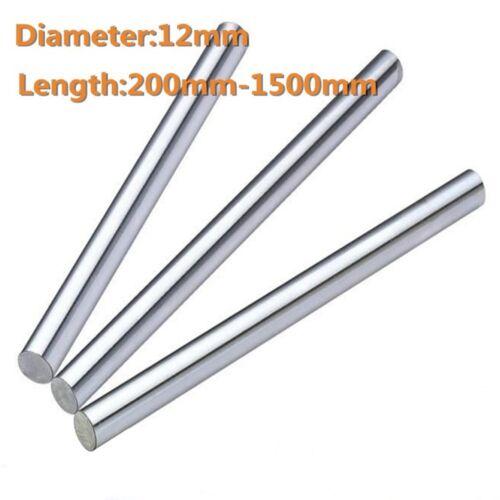 12mm//0.47inch Diameter Hardened Steel Shaft Linear Bearing Rod Rail L200-1500mm