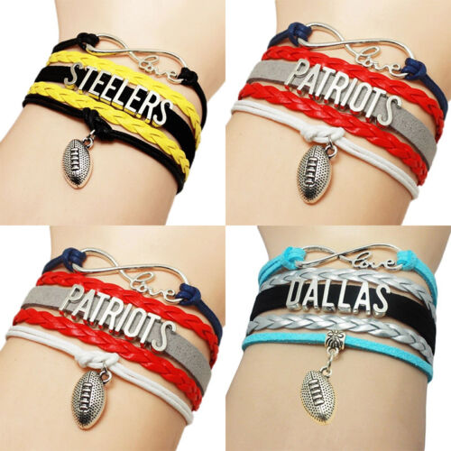 NFL/&MLB Bracelet American Football /& Baseball Match Souvenir Men Boys Gift Hot