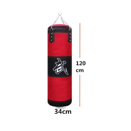 Heavy Hanging Punching Bag Kit Boxing MMA Training Taekwondo W// Chain Hook Tool