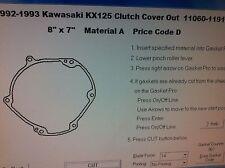 Kawasaki KX125 outer clutch cover Gasket 1992 1993