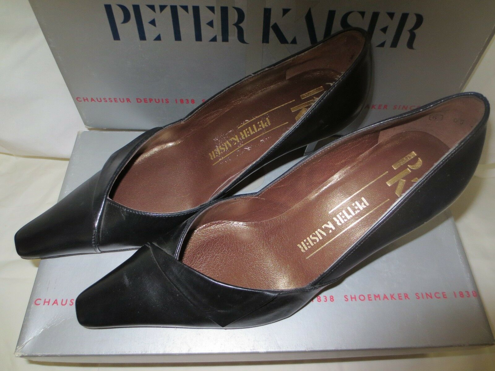 Peter Peter Peter Kaiser Miria Leather with Med. Heel 335a51