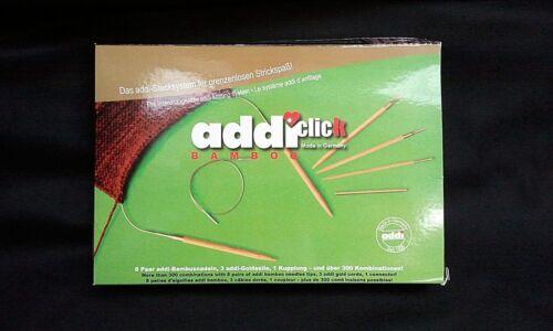 Addi-Click Bamboo rotondo a maglia ago sistema in legno di bambù