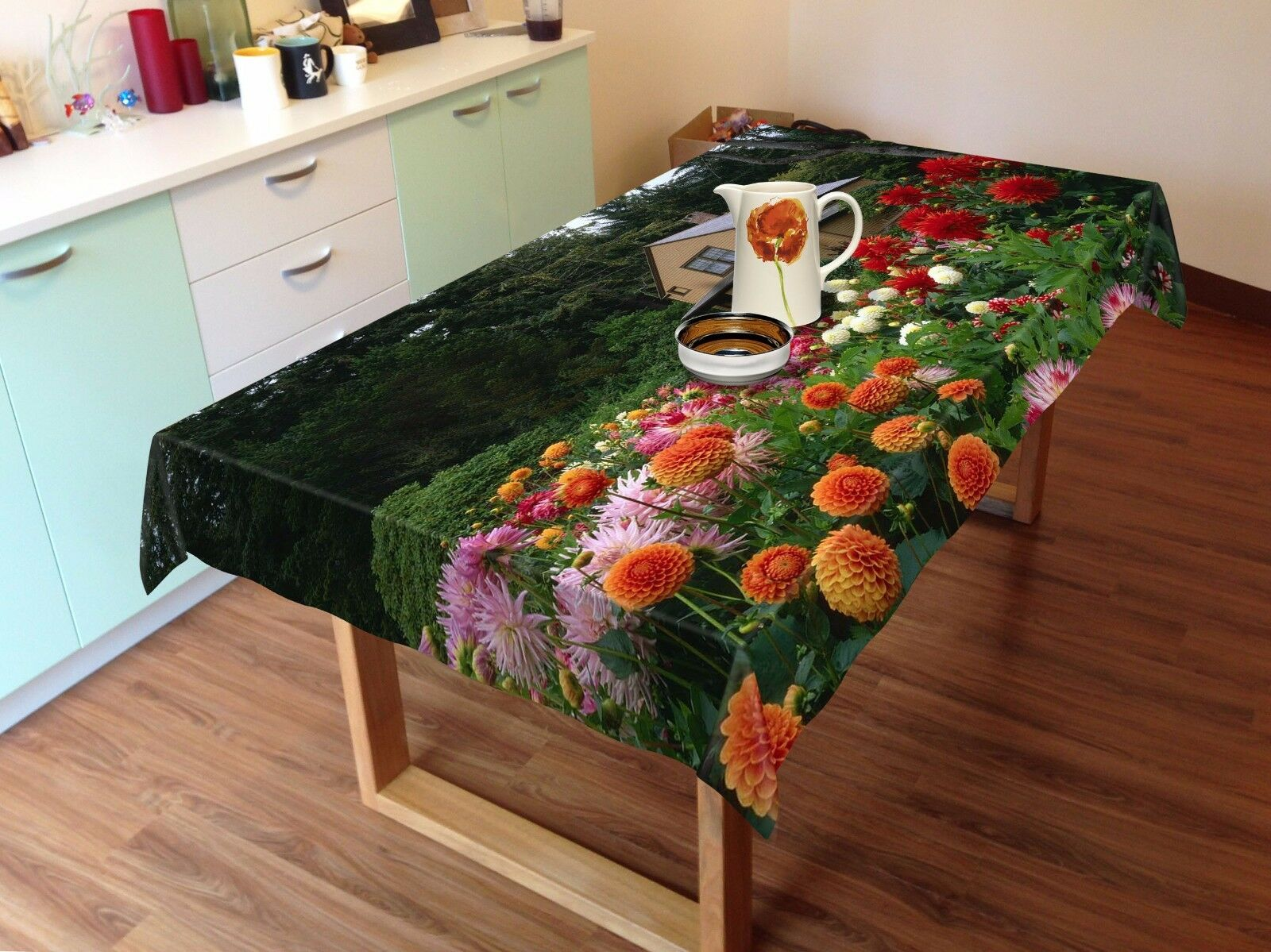 3D Flower 4550 Tablecloth Table Cover Cloth Birthday Party Event AJ WALLPAPER AU