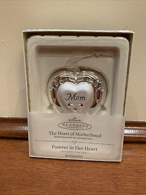 Hallmark 2004 The Heart of Motherhood Silver Plated Keepsake Ornament NEW!!