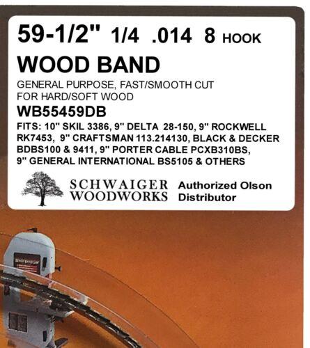 """Olson Band Saw Blades 59-1//2/"""" inch x 1//8/"""",1//4/"""" /& 3//8/"""" Ryobi for 9/"""" Delta Skil"""