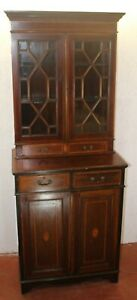 1905-Mahogany-Bookcase-with-Inlay
