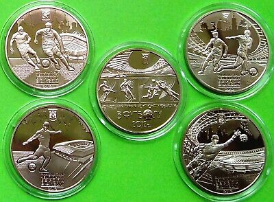 UEFA EURO 2012 Set of coins Ukraine 2012 nickel silver Kharkiv Kyiv Lviv Donetsk