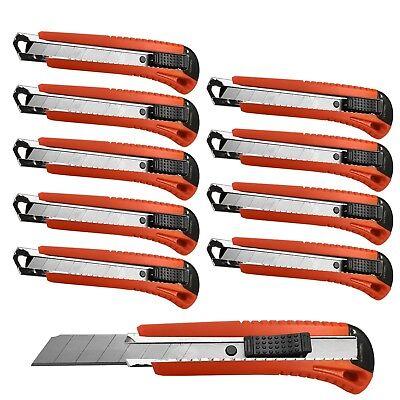 1 - 30 x Profi Cuttermesser Schneidemesser mit 18mm Abbrechklinge Teppichmesser