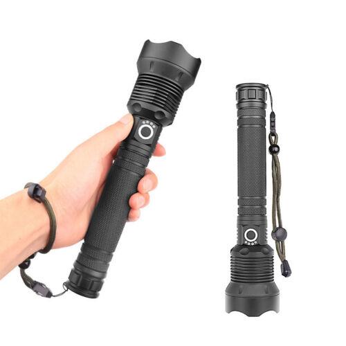 120000 Lumens LED XHP70.2 Aluminum USB Rechargeable Flashlight Zoom Torch lamp