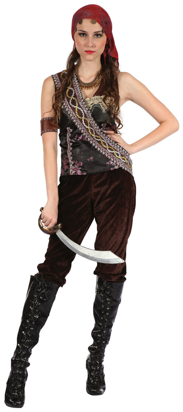 Pirates of the Caribbean - Gypsy Lady Fancy Dress Costume for Women