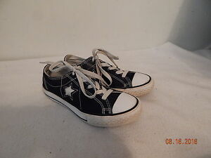girls youth tennis casual shoes size 1 black white