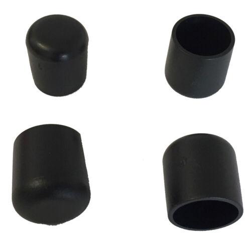 Gartenstuhl Schutzkappe Bank 4x Fusskappe 30 mm für runde Rohre Schwarz Stapel