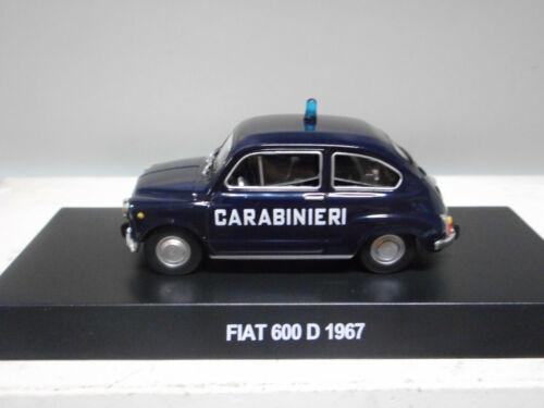 FIAT 600 D 1957 CARABINIERI CENTAURIA 1:43