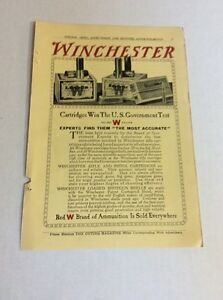 1911 MAGAZINE AD #A3-142 - Winchester-Cartridges Win U.S. Government Test