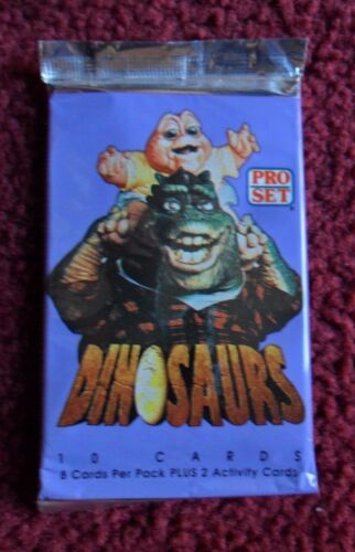 Unopened Pack 1992 PRO SET Disney Dinosaurs TV Show Trading Cards ~