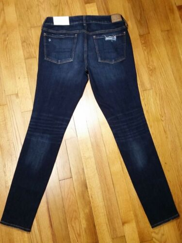 American Eagle Jegging Jeans Low Rise Ripped Destroyed Super Stretch X 4 NWT
