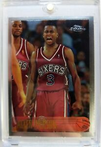 1996-96-TOPPS-CHROME-Allen-Iverson-ROOKIE-RC-171-76ers-The-Answer-HOF-Sharp