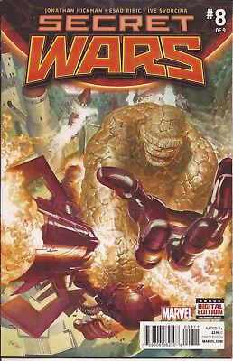 Secret Wars 8 Marvel Ultimate Universe Avengers X-Men Fantastic 4 Battleworld VF