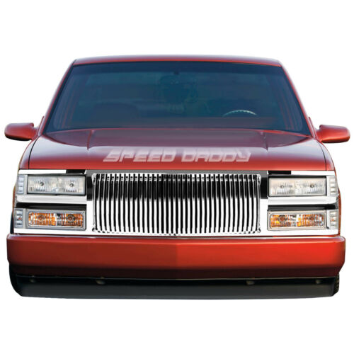 FOR 94-00 CHEVY C10 C//K//TAHOE//BLAZER FRONT BUMPER CHROME VERTICLE GRILLE GUARD