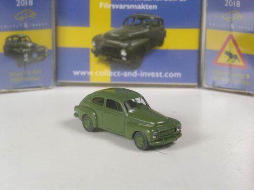 3 Wiking C/&I Sondermodell Volvo PV 444 Military Sweden Sverige Edition Nr