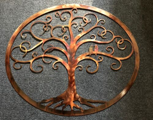"""Framed Oval Love Bird Swirled Tree of Life 30 1//2/"""" wide by 26 1//4/"""" by HGMW"""