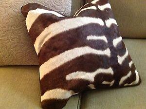 Real Animal Skin Pillows : African Zebra Skin Pillow Cover Genuine - 20