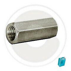 cf 4 pz manicotto manicotti esagonale acciaio zincato M8x40 mm giunzione barra