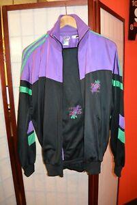 Adidas Sport Années 90 Rétro Vintage Violet Noir Vert Survêtement S (#127)-afficher Le Titre D'origine