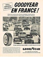 PUBLICITE ADVERTISING  1960   GOODYEAR  pneus