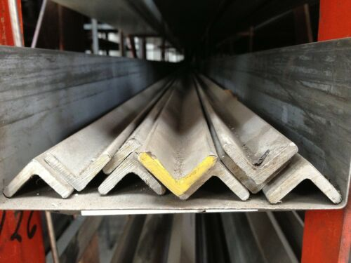 """STAINLESS STEEL ANGLE 2-1//2/"""" x 2-1//2/"""" x 3//16/"""" x 48/"""" 304"""