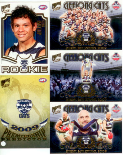 2009 Select AFL Geelong Premiership Limited Edition 4Card+ Predictor Card