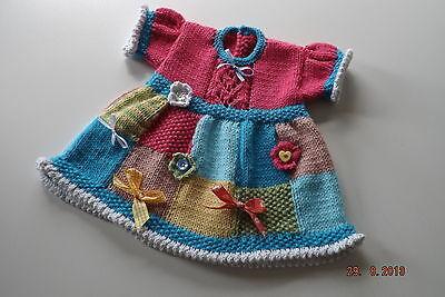 BABY KNITTING PATTERNS BABY DRESS C002 FREEPOST
