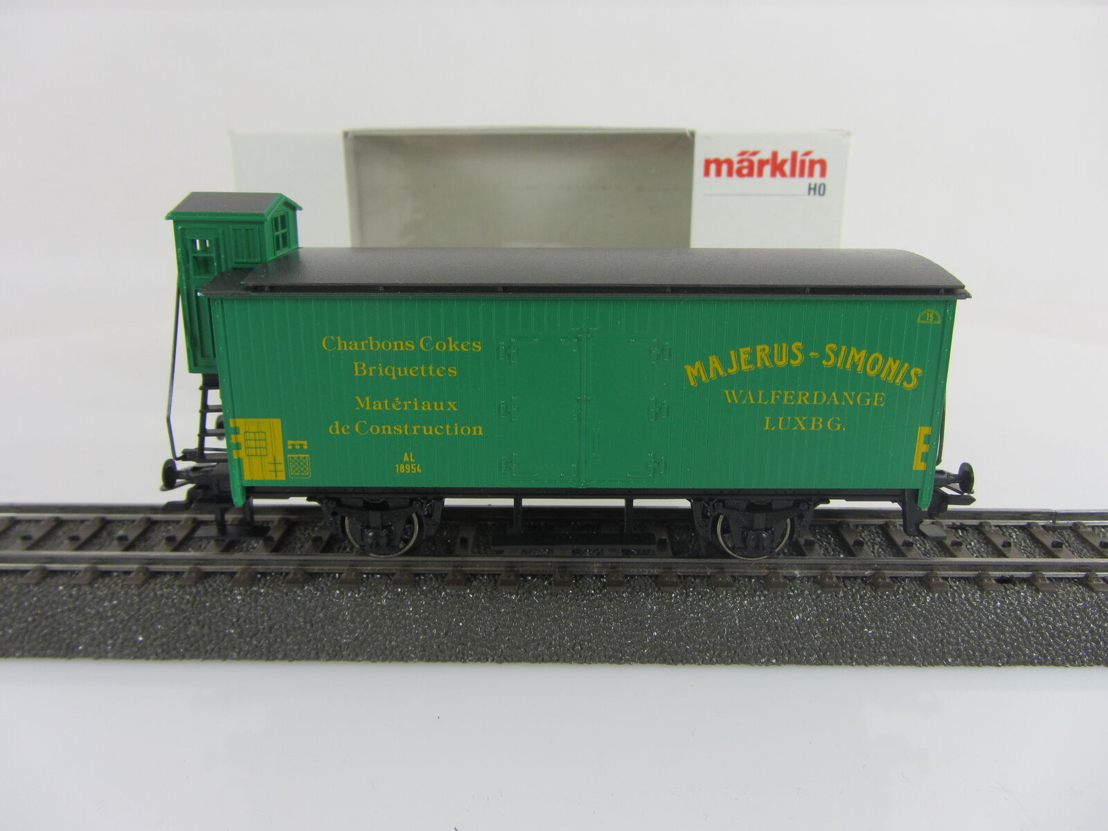 Märklin Basis 4680 Güterwagen Majerus Simonis green CFL Sondermodell mit OVP