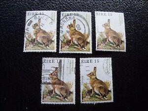 irlanda-sello-yvert-y-tellier-n-425-x5-matasellados-A32-stamp-Irlanda-A