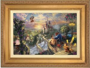 Thomas Kinkade Disney Beauty And The Beast 12x18 Le Canvas Sn 876